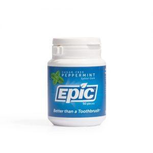 Epic Peppermint Chewing Gum Bottle 50 Pieces
