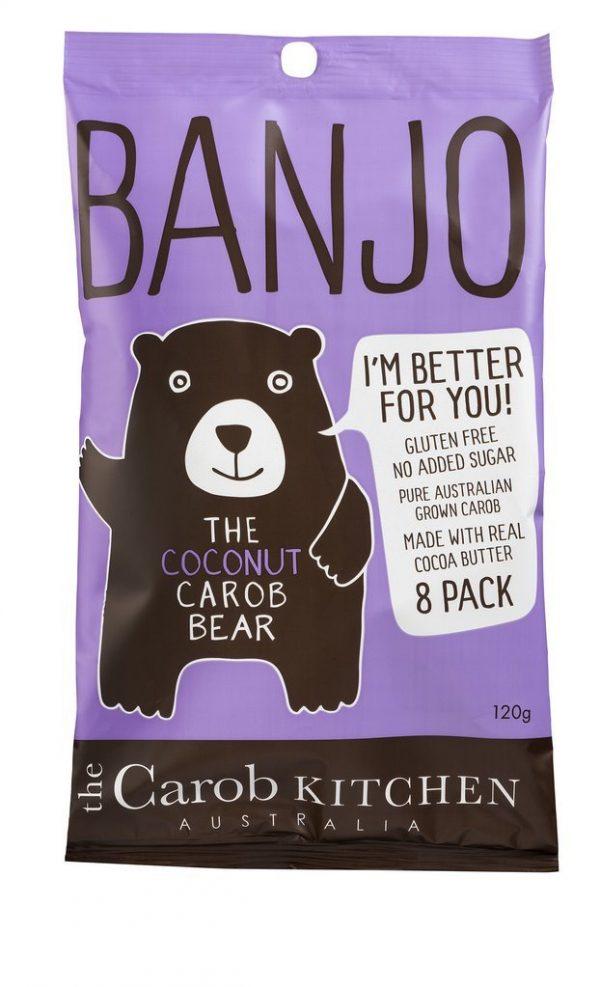 Banjo Coconut Carob Bears (8) 120g