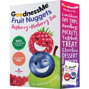 Goodness Me Fruit Nuggets - Raspberry & Blueberry Duo 136g