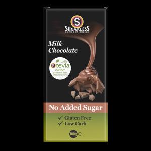 Sugarless Confectionery Milk Chocolate 100g