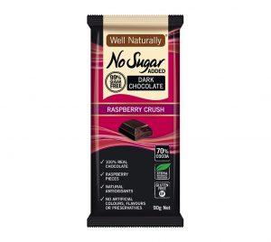 Well Naturally Dark Chocolate Raspberry Crush 90g