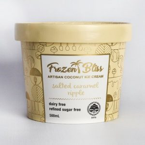 Frozen Bliss Ice Cream - Salted Caramel Ripple 500ml FROZEN