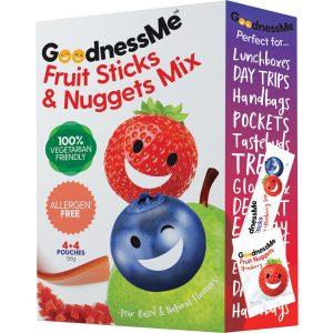 Goodness Me Fruit Sticks & Nuggets Mix 8 pk 136g