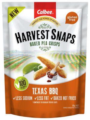 Harvest Snaps Pea Crisps Texas BBQ 93g