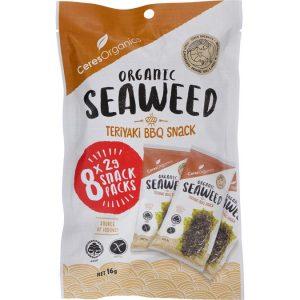 Ceres Organics Seaweed Snack Teriyaki BBQ (8) 200g