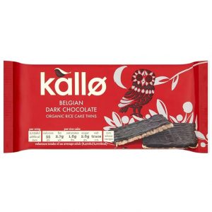 Kallo Belgian Dark Chocolate Organic Rice Cake Thins 90g