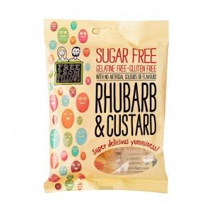 Free From Fellows Rhubarb and Custard Sugar Free Lollies 70g
