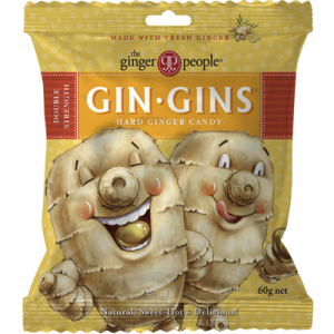 Gin Gins Double Strength Ginger Candy 60g