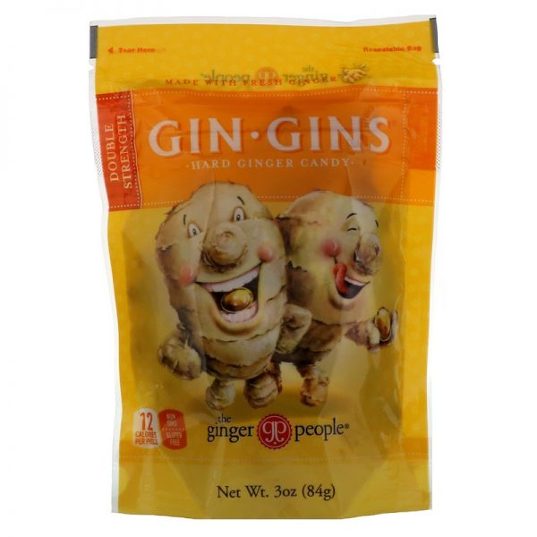 Gin Gins Hard Ginger Double Strength Ginger Candy 84g