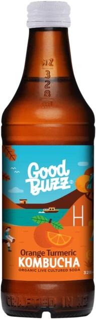 Good Buzz Orange Turmeric Kombucha 328ml