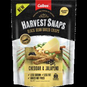 Harvest Snaps Black Bean Crisps Cheddar & Jalapeno 85g