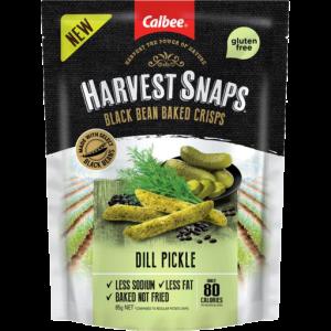 Harvest Snaps Black Bean Crisps Dill Pickle 85g