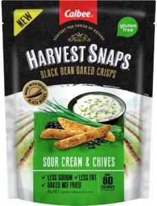 Harvest Snaps Black Bean Crisps Sour Cream & Chives 85g