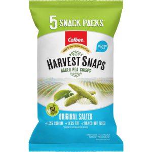 Harvest Snaps Pea Crisps Original Salted Multipack (5) 80g