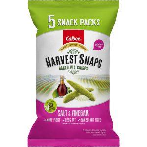 Harvest Snaps Pea Crisps Salt & Vinegar Multipack (5) 80g
