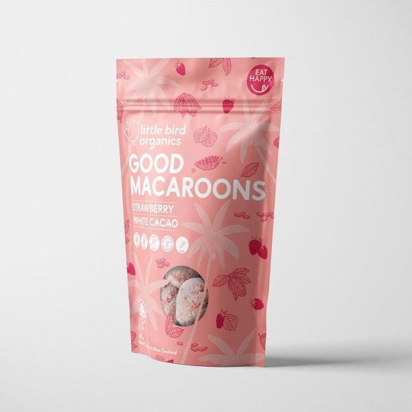 Little Bird Strawberry Macaroons 125g