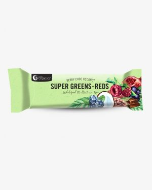 Nutra Organics Super Greens and Reds Berry Choc Coconut Multi Vitamin Bar 45g
