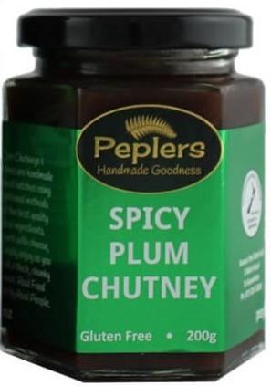 Peplers Spicy Plum Chutney 195ml