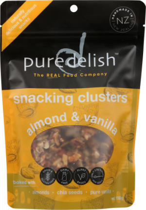 Pure Delish Snacking Clusters Almond & Vanilla 120g