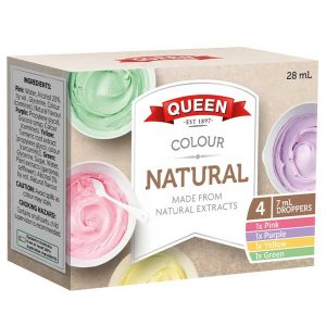 Queen Natural Food Colours 4 x 7ml