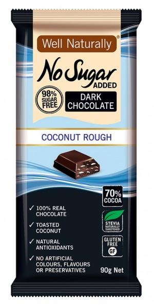 Well Naturally Dark Chocolate Coconut Rough 90g
