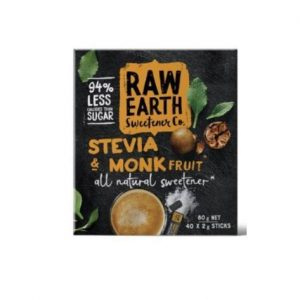 Raw Earth Stevia and Monk Fruit (40 x 2g) 80g