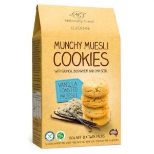 Naturally Good Munchy Vanilla Toasted Muesli Cookie 160g