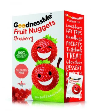 Goodness Me Fruit Nuggets - Strawberry 136g