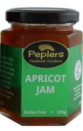 Peplers Apricot Jam 220g