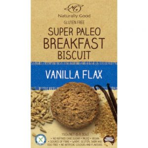 Naturally Good Super Paleo Breakfast Biscuit Vanilla Flax (5x30g) 150g