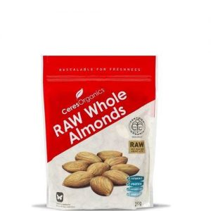 Ceres Organics Raw Whole Almonds 250g