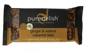 Pure Delish Ginger & Walnut Caramel Slab 400g