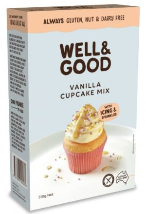 Well & Good Vanilla Cupcake Mix 510g