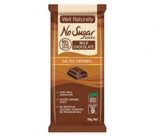 Well Naturally Chocolate Salted Caramel 90g