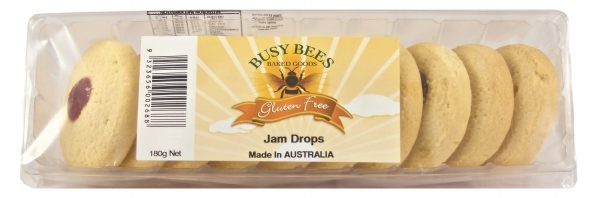 Busy Bees Jam Drops Biscuits 180g
