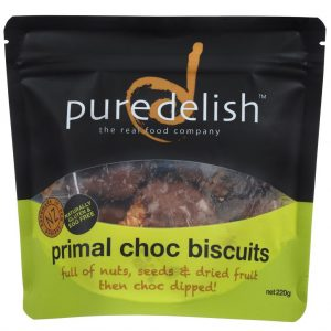Pure Delish Primal Choc Biscuits 220g