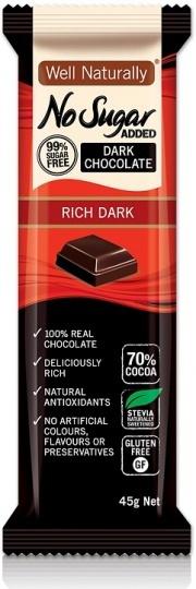 Well Naturally Dark Chocolate Rich 45g