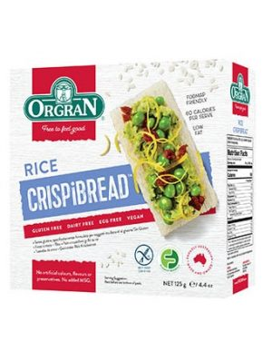 OrgranToasted Rice Crispibread 125g