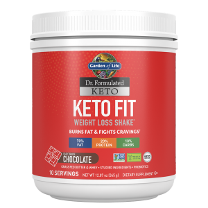 Garden of Life Keto Fit Weight Loss Shake - Chocolate 365g