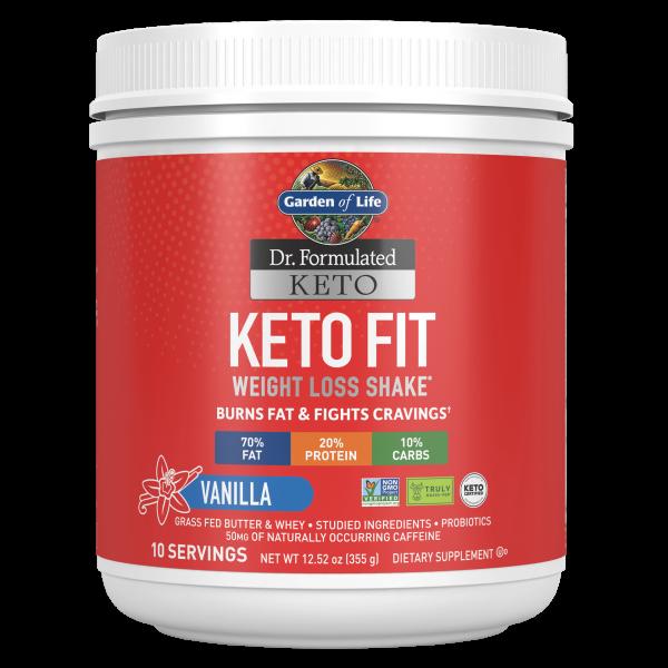 Garden of Life Keto Fit Weight Loss Shake - Vanilla 365g