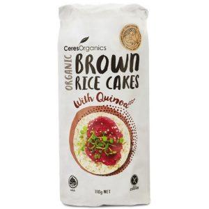Ceres Organics Brown Rice Cakes Quinoa 110g