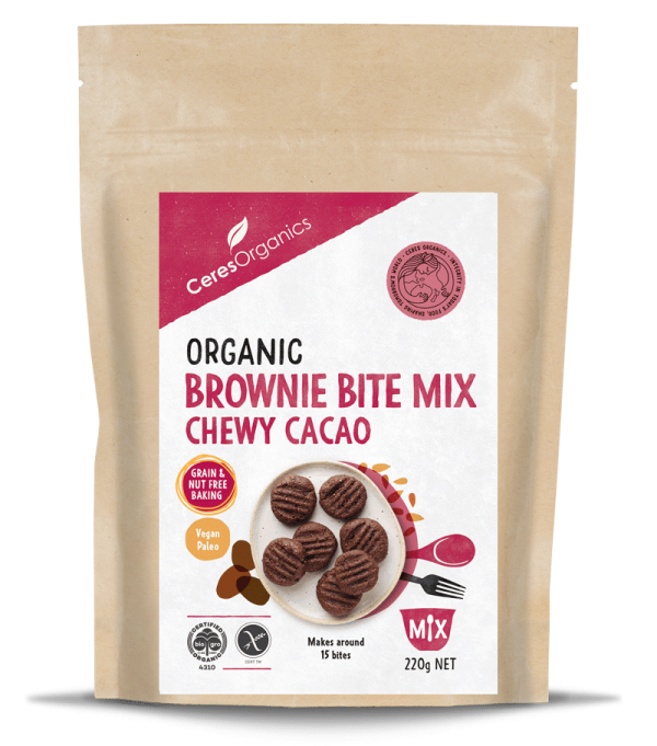 Ceres Organics Chewy Cacao Brownie Bite Mix 220g