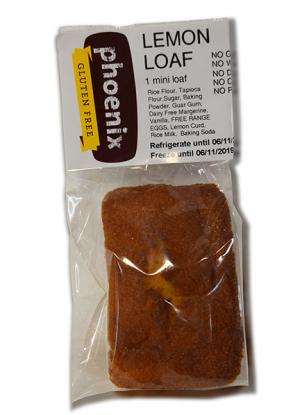 Phoenix Lemon Loaf Mini 100g FROZEN