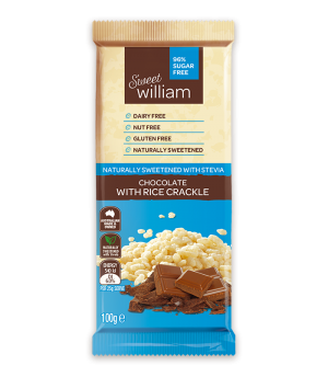 Sweet William Chocolate with Rice Crackle 100g