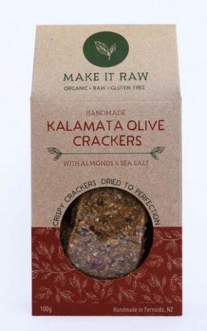 Make It Raw Kalamata Olive Crackers 100g