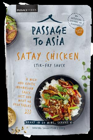 Passage to Asia Satay Chicken Stir-Fry Sauce 200g