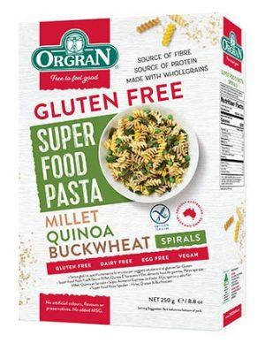 Orgran Super Food Pasta Millet Quinoa & Buckwheat 250g