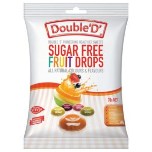 Double Ds Sugar Free Fruit Candy Drops 70g