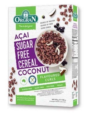 Orgran Sugar Free Acai & Coconut Cereal 200g