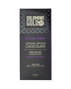 Solomons Gold Dark Velvet Chocolate 85g